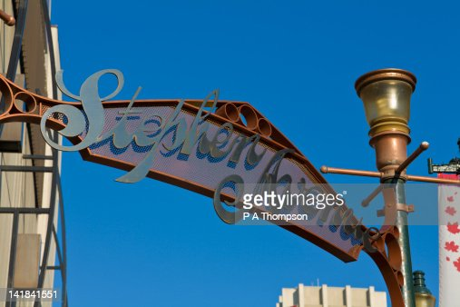 Stephen Avenue, Calgary, Alberta, Canada : Stock Photo