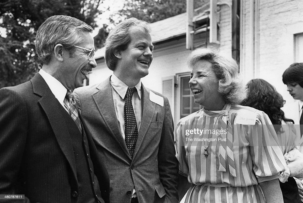 FILE, Stephen B. Oates (author 'Let The Trumpet Sound') left, Jonathan Schell and Ethel Kennedy at Hickory Hill in McLean, Virginia on May 2, 1983. Schell, New Yorker writer who drew attention to problems in the environment, died. He was best known for his book The Fate of the Earth.