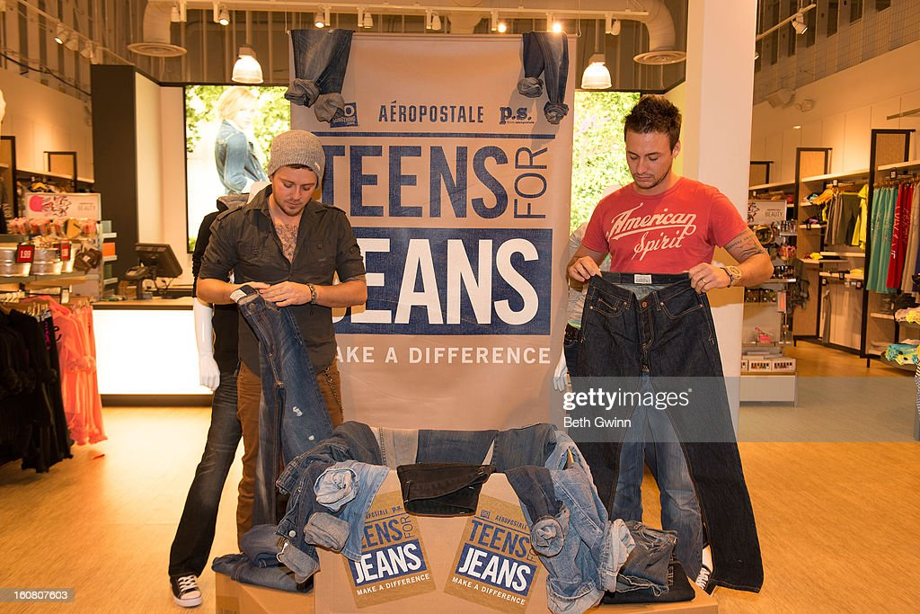 Stephen Baker Liles, and Eric Gunderson of ACM nominated duo Love and Theft supports DoSomething.org and Aeropostale's '6th Annual Teens for Jeans' campaign on February 5, 2013 in Nashville, Tennessee.
