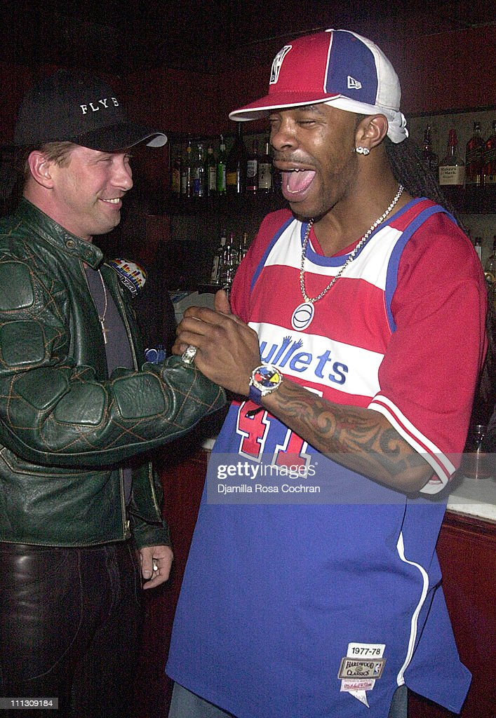 Stephen Baldwin and Busta Rhymes during Busta Rhymes Presented with $5000 Bottle of Courvoisier at Float in New York City New York United States