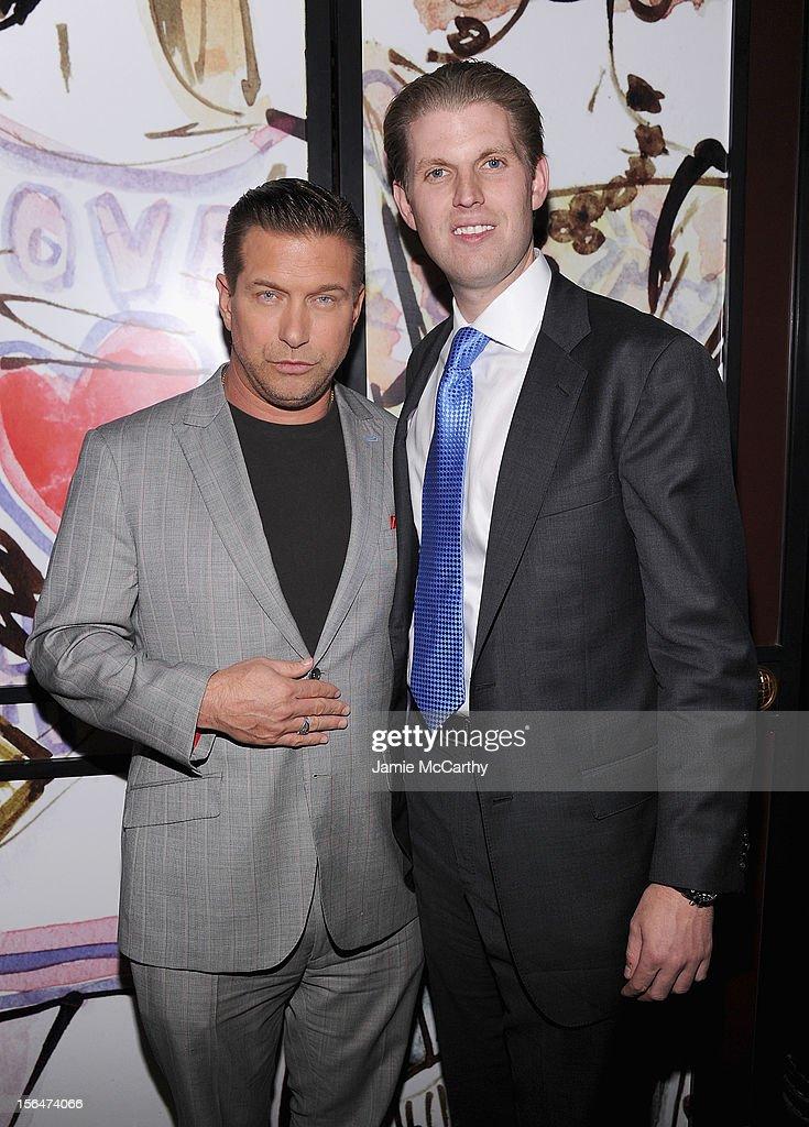 Stephen Baldwin and Eric Trump attend Henri Bendel holiday window unveiling 2012 at Henri Bendel on November 15, 2012 in New York City.
