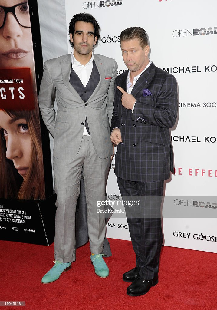 <a gi-track='captionPersonalityLinkClicked' href=/galleries/search?phrase=Stephen+Baldwin&family=editorial&specificpeople=213776 ng-click='$event.stopPropagation()'>Stephen Baldwin</a> (R) and guest attend the premiere of 'Side Effects' hosted by Open Road with The Cinema Society and Michael Kors at AMC Lincoln Square Theater on January 31, 2013 in New York City.