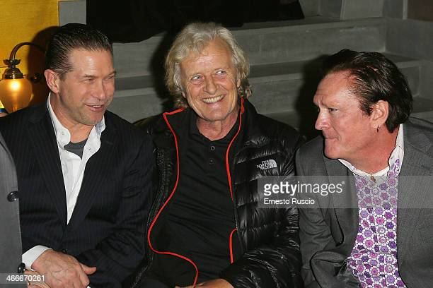 Stephen Baldwin Rutger Hauer and Michael Madsen attend the 'Sights Of Death' Pre Berlinale Party at NUR BAR on February 2 2014 in Rome Italy