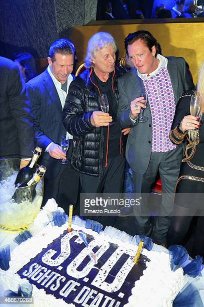 Stephen Baldwin Rutger Hauer and Michael Madsen attend the 'Sights Of Death' Pre Berlinale Party' at NUR BAR on February 2 2014 in Rome Italy