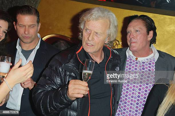 Stephen Baldwin Rutger Hauer Michael Madsen attend the ''Sights Of Death' Pre Berlinale Party' at NUR BAR on February 2 2014 in Rome Italy