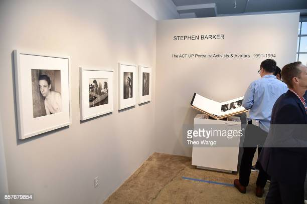 'Stephen Barker The ACT UP Portraits Activists Avatars 19911994' Exhibition on October 4 2017 in New York City