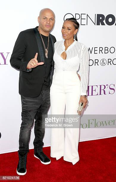 Stephen Belafonte and actress/singer Mel B attend Open Roads World Premiere of 'Mother's Day' at TCL Chinese Theatre IMAX on April 13 2016 in...