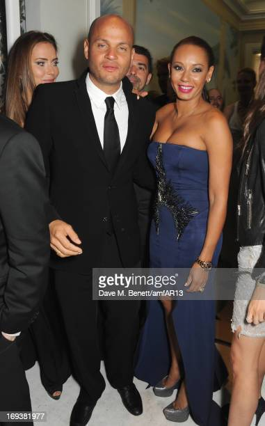 Stephen Belafonte and Melanie Brown aka Mel B attend 'Moncler The After Party To Benefit amfAR' during The 66th Annual Cannes Film Festival at Hotel...