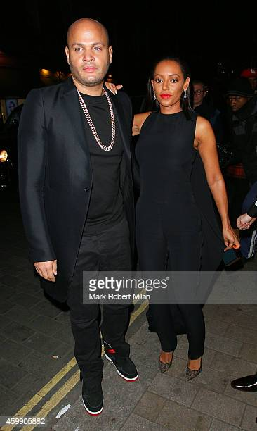 Stephen Belafonte and Melanie Brown attending the Cosmopolitan Ultimate Women Of The Year Awards on December 3 2014 in London England