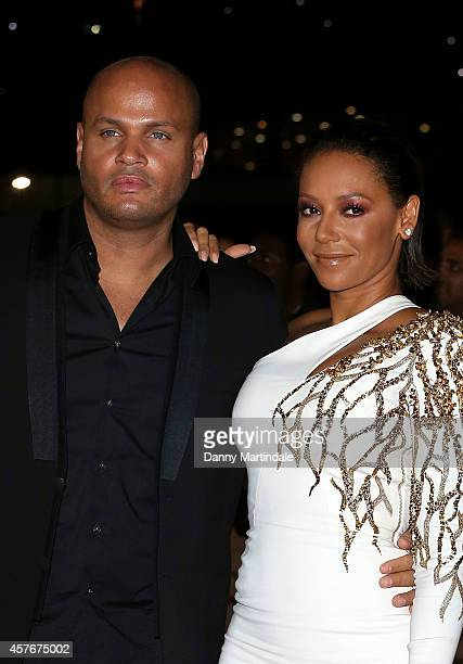 Stephen Belafonte and Melanie Brown attends the MOBO Awards at SSE Arena on October 22 2014 in London England