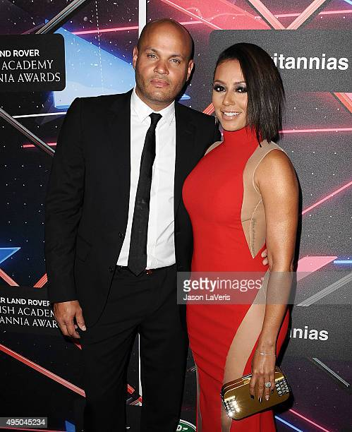 Stephen Belafonte and Melanie 'Mel B' Brown attend the 2015 British Academy Britannia Awards at The Beverly Hilton Hotel on October 30 2015 in...
