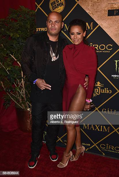 Stephen Belafonte and Singer/TV personality Mel B attends the Maxim Hot 100 Party at the Hollywood Palladium on July 30 2016 in Los Angeles California