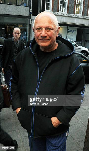 Stephen Berkoff attends the launch event for Triana De Lamo Terry's exhibition 'Soho Lights' at Gallery 27 on April 20 2010 in London England
