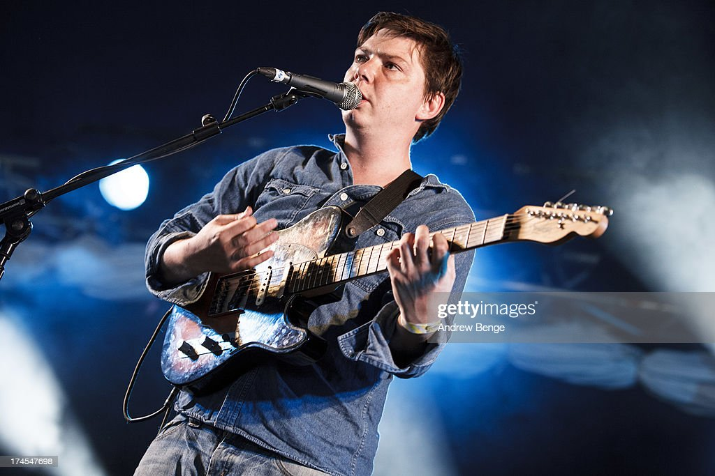Stephen Black of Sweet Baboo performs on stage on Day 2 of Kendal Calling Festival at Lowther Deer Park on July 27, 2013 in Kendal, England.