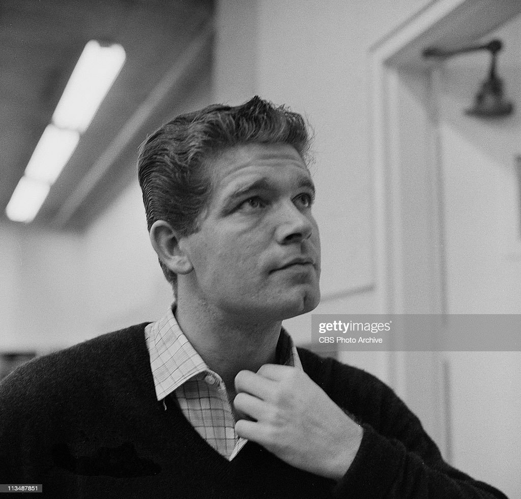 Stephen Boyd in rehearsal for 'To the Sound of Trumpets' on PLAYHOUSE 90. Image dated January 15, 1960.