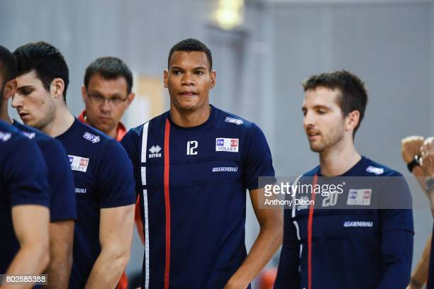 Stephen Boyer of France during a training session of the French volleyball national team on June 28 2017 in Vincennes France