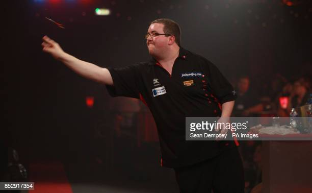 Stephen Bunton in his match against Robbie Green during the BDO World Championships at the Lakeside Complex Surrey