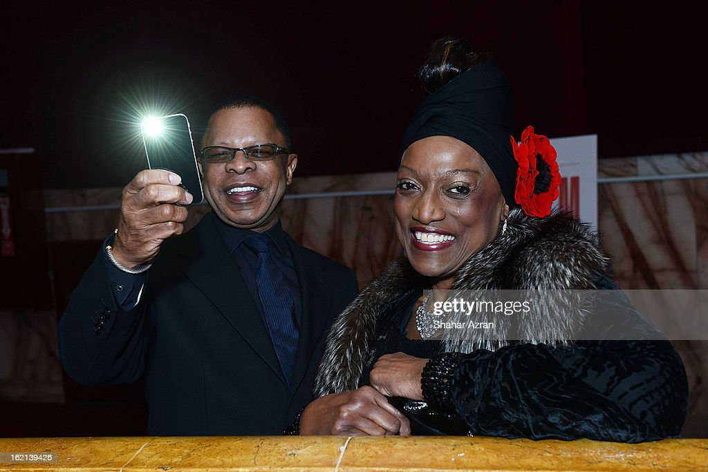 Stephen Byrd and Jessye Norman attend Apollo Club Harlem at The Apollo Theater on February 18, 2013 in New York City.
