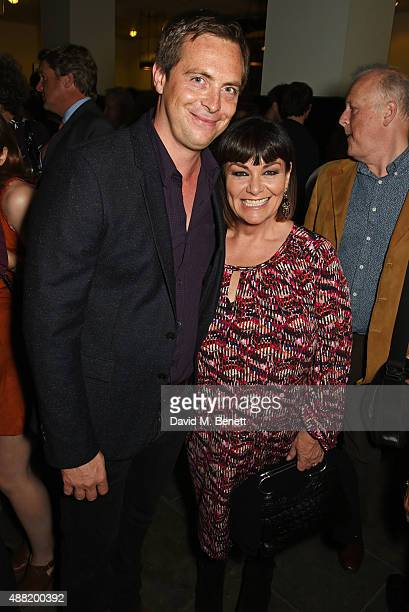 Stephen Campbell Moore and Dawn French attend the 'Photograph 51' press night after party at the The National Cafe on September 14 2015 in London...
