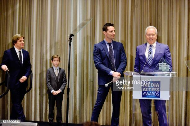 Stephen Chbosky Jacob Trembley Todd Lieberman and David Hoberman attend the Media Access Awards 2017 at The Four Seasons on November 17 2017 in...