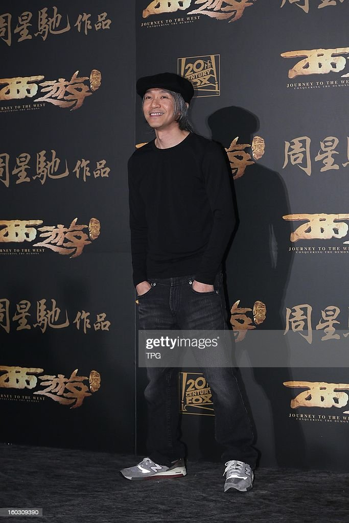 Stephen Chow at press conference of new movie Journey to the West: Conquering the Demons on Monday January 28, 2013 in Taipei, Taiwan, China.