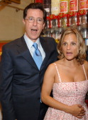 Stephen Colbert and Amy Sedaris during THINKFilm Presents The New York Premiere of 'Strangers With Candy' Afterparty at Dylan's Candy Bar in New York...