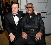 Stephen Colbert and Sam Moore attend the 37th Annual Kennedy Center Honors at The John F Kennedy Center for Performing Arts on December 7 2014 in...