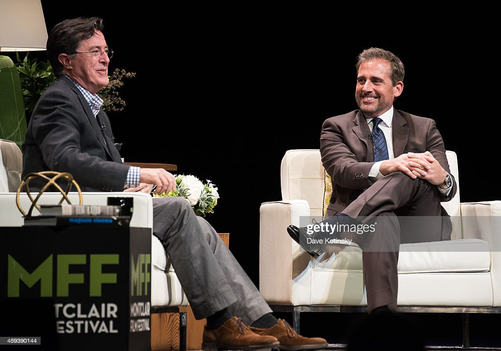 Stephen Colbert and Steve Carell speak at the 2014 Montclair Film Festival Stephen Colbert And Steve Carell In Conversation at New Jersey Performing...