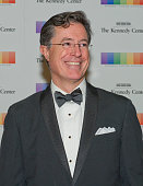 Stephen Colbert arrives for the formal Artist's Dinner honoring the recipients of the 38th Annual Kennedy Center Honors hosted by United States...