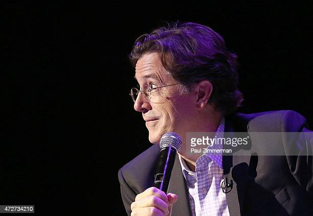 Stephen Colbert attends the 2015 Monclair Film Festival Centerpiece Film Mavis followed by QA with Mavis Staples and moderated by Stephen Colbert on...