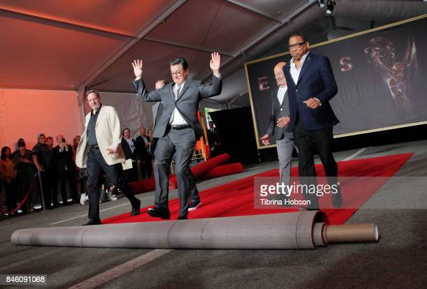 Stephen Colbert attends the 69th Emmy Awards Red Carpet Rollout and Press Preview Day at Microsoft Theater on September 12 2017 in Los Angeles...