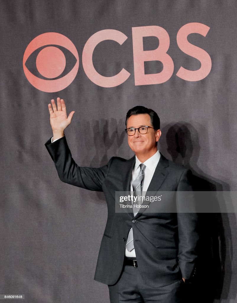 Stephen Colbert attends the 69th Emmy Awards Red Carpet Rollout and Press Preview Day at Microsoft Theater on September 12, 2017 in Los Angeles, California.
