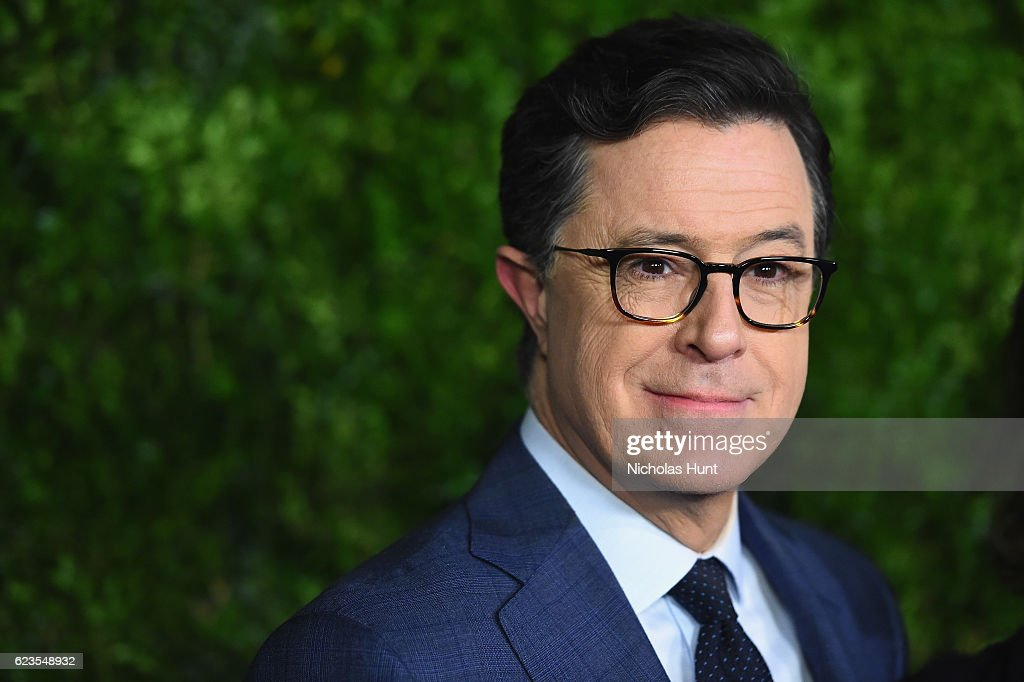 Stephen Colbert attends the MoMA Film Benefit presented by CHANEL, A Tribute To Tom Hanks at MOMA on November 15, 2016 in New York City.