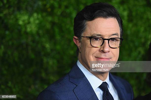 Stephen Colbert attends the MoMA Film Benefit presented by CHANEL A Tribute To Tom Hanks at MOMA on November 15 2016 in New York City