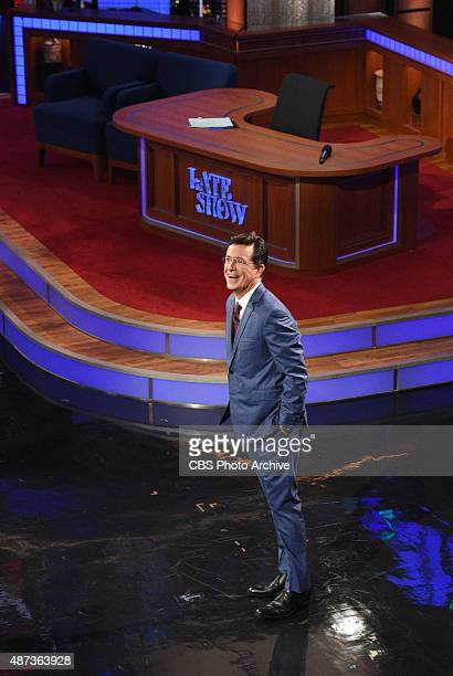 Stephen Colbert during the premiere episode of The Late Show with Stephen Colbert Tuesday Sept 8 2015 on the CBS Television Network