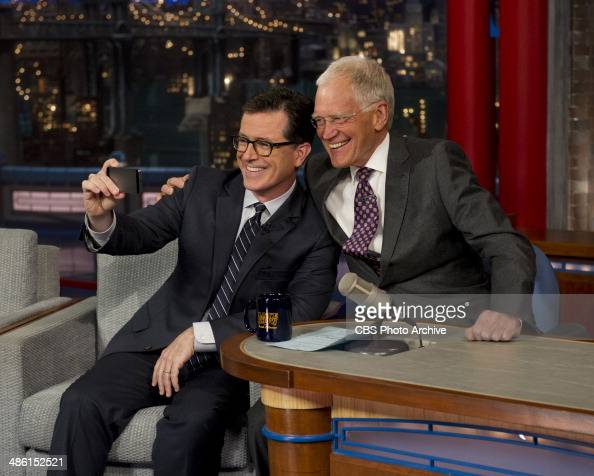 Stephen Colbert future host of the LATE SHOW talks to David Letterman when Colbert visits the LATE SHOW with DAVID LETTERMAN Tuesday April 22 on the...
