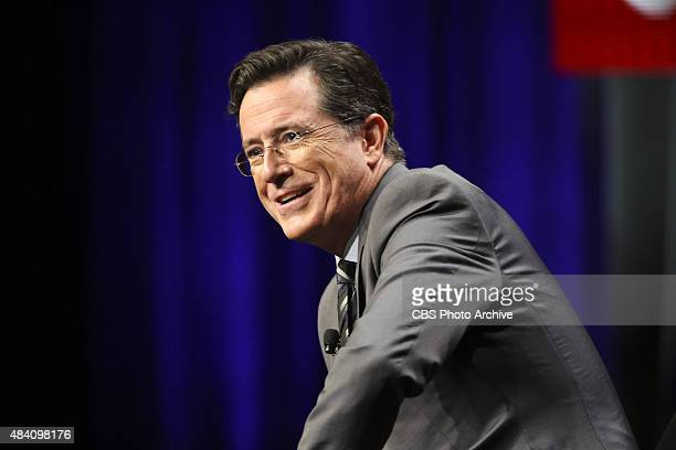 Stephen Colbert host of 'The LATE SHOW with STEPHEN COLBERT' appears at the TCA Summer Press Tour 2015 on Monday August 10 2015 at the Beverly Hilton...
