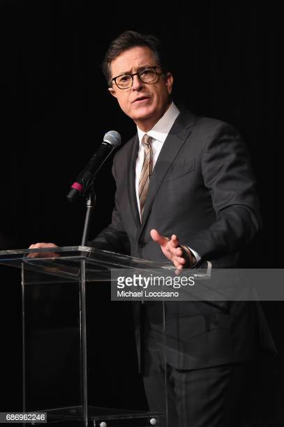 Stephen Colbert hosts the Elevator Repair Service Theater 25th Anniversary Gala at Tribeca Rooftop on May 22 2017 in New York City