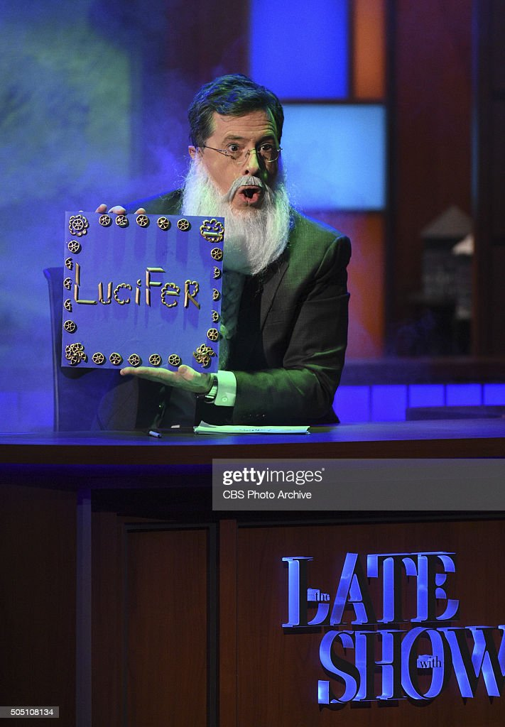 Stephen Colbert on The Late Show with Stephen Colbert Monday Jan 11 2016 on the CBS Television Network
