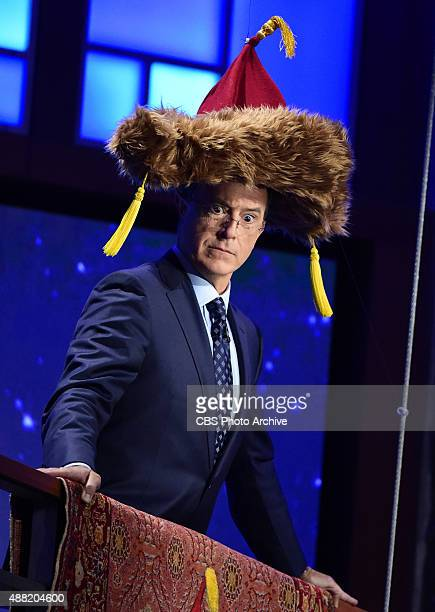 Stephen Colbert on The Late Show with Stephen Colbert Wednesday Sept 9 2015 on the CBS Television Network