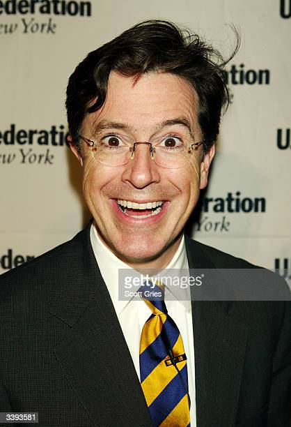 Stephen Colbert poses for a photo during the UJA Federation roast of Comedy Central's President and CEO Larry Divney at BB King Blues Club Grill...