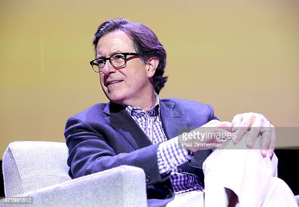 Stephen Colbert speaks at the 2015 Monclair Film Festival In Conversation With Richard Gere Hosted By Stephen Colbert at the Wellmont Theatre on May...