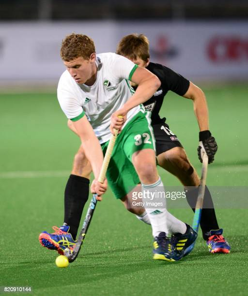 Stephen Cole of Ireland during day 8 of the FIH Hockey World League Men's Semi Finals 5th6th place match between New Zealand and Ireland at Wits...