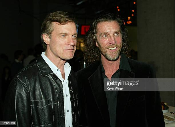 Stephen Collins '7th Heaven' and John Glover 'Smallville' at 'The WB 2003 Winter TCA Tour Party' at Hollywood and Highland in Los Angeles Ca Saturday...