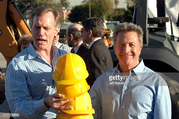 Stephen Collins and Dustin Hoffman during The Madison Project Dustin Hoffman and Santa Monica College Alumni Break Ground for New Visual and...