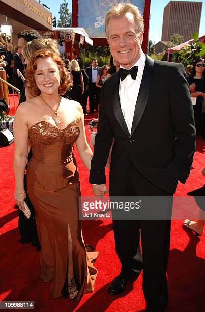 Stephen Collins and guest during 58th Annual Primetime Emmy Awards Red Carpet at The Shrine Auditorium in Los Angeles California United States