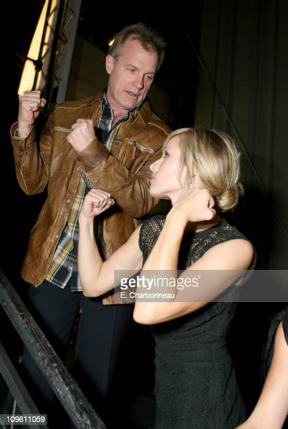 Stephen Collins and Kristen Bell during The CW Launch Party Inside at WB Main Lot in Burbank California United States