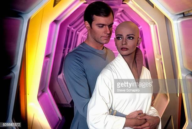 Stephen Collins as Commander Willard Decker and Persis Khambatta as Lieutenant Ilia in the 1979 film Star Trek The Motion Picture