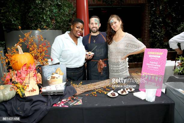 Stephen Collucci poses with his Toasted Marshmallow Ice Cream during Family Ice Cream Fundae hosted by Mario Batali and Ayesha Curry at Private Park...