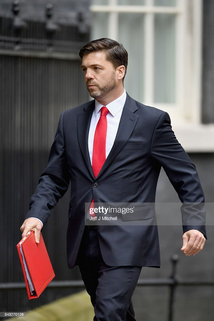 <a gi-track='captionPersonalityLinkClicked' href=/galleries/search?phrase=Stephen+Crabb&family=editorial&specificpeople=13218086 ng-click='$event.stopPropagation()'>Stephen Crabb</a>, Secretary of State for Work and Pensions arrives for a cabinet meeting at Downing Street on June 27, 2016 in London, England. British Prime Minister David Cameron is due to chair an emergency Cabinet meeting this morning, after Britain voted to leave the European Union. Chancellor George Osborne spoke at a press conference ahead of the start of financial trading and outlining how the Government will 'protect the national interest' after the UK voted to leave the EU.